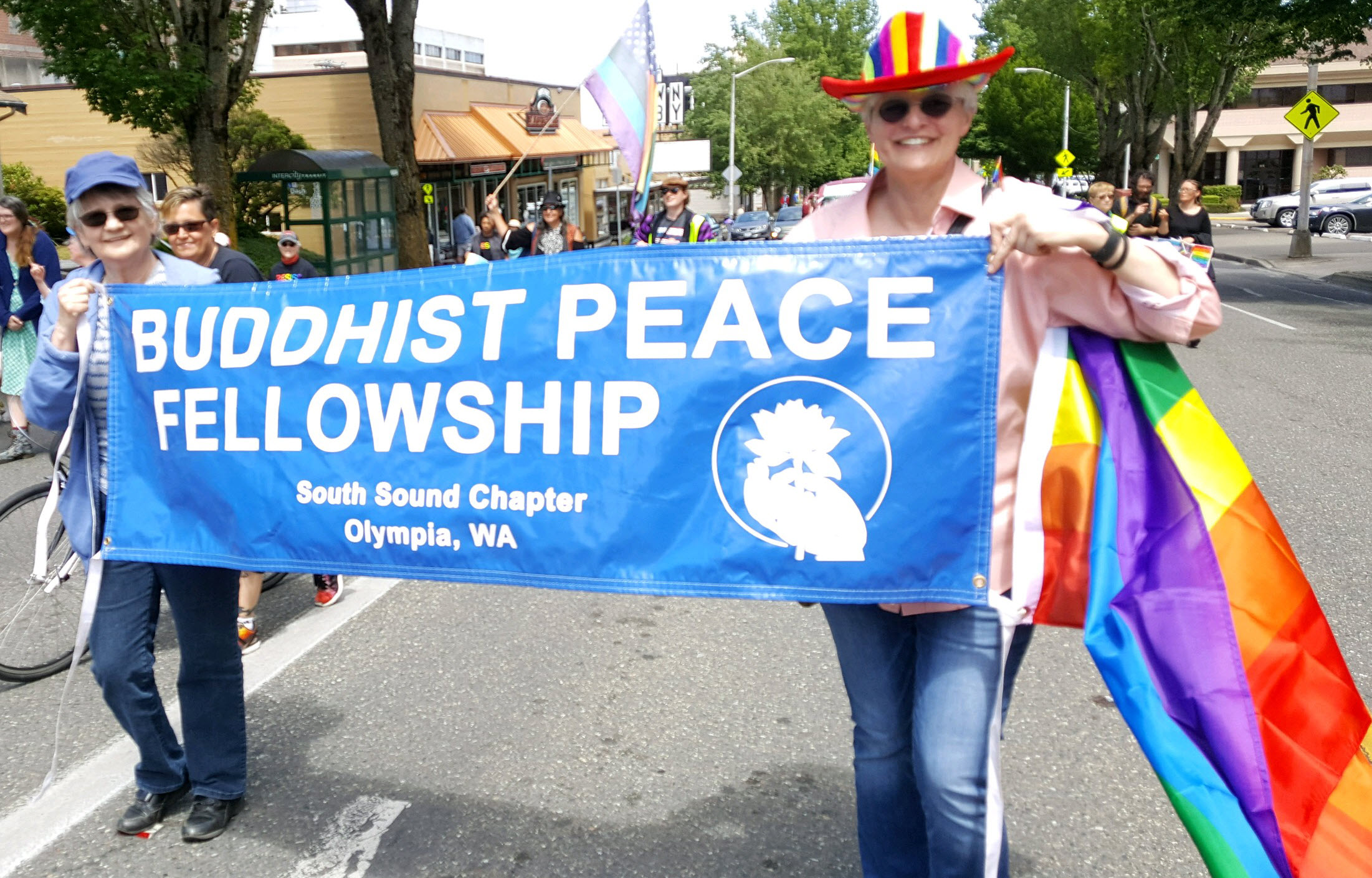 SSBPF in March for Unity and Pride Olympia Washington June 2017